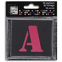 Mahé LE17 Lot de 26 Pochoirs lettres Plastique Transparent 5 x 5 x 0,1 cm