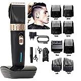 MXIN Tondeuse Cheveux Hommes Hommes Coupe-Cheveux de précision sans Fil Coupe-Poils Set 8 Guides Peignes, Tondeuse Hommes, Femmes, Enfants, coiffeurs stylistes...