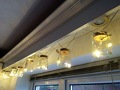 D Batterie-Mason Jam Jar Indoor Lichterketten Warm White Wedding Partei-Dekor ()