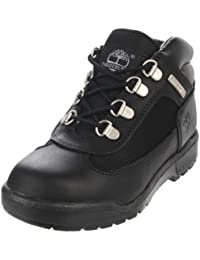 Timberland Leather and Fabric Field Boot (Toddler/Little Kid/Big Kid),Black,4 M US Toddler