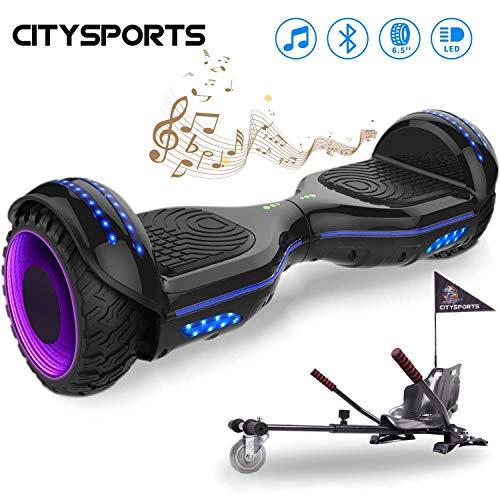 """- CITYSPORTS Hoverboard 6,5"""", selbstausgleichender Roller mit LED-Rad und integriertem Bluetooth, Motor 2 * 350W"""