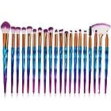 Lot de pinceaux de maquillage, 20Pcs Pinceaux de maquillage professionnels avec...