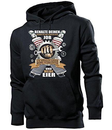 love-all-my-shirts BEHALTE DEINEN KRAWATTEN UND SCHREIBTISCH JOB - ICH BEHALTE LIEBER MEINE WERKZEUGE UND MEINE EIER 5387 Herren Hoodie (HKP-SW) Gr. - Schreibtisch-job