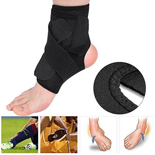 Knöchelbandage, verstellbarer, atmungsaktiver Stützfuß, Verstauchungsschutz, schwarz -