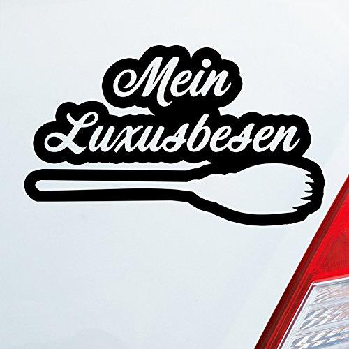 iner Wunschfarbe Mein Luxusbesen Hexe fliegen Fun Besen 16,5x10 cm Autoaufkleber Sticker (Hexe Fliegen)