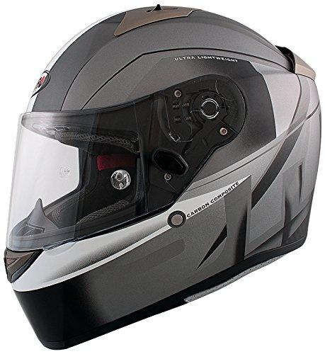 Shiro casco, grey-titanium-black, tamaño M