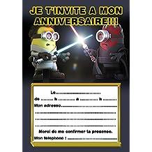amazon fr carte invitation anniversaire star wars
