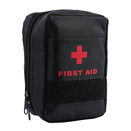 AOLVO Botiquin Primeros Auxilios, Botiquin de Urgencias de Supervivencia con 44 Artículos, Adecuado para El Coche, Hogar, Camping, Caza, Viajes, Aire Libre o Deportes, Pequeño y Compacto