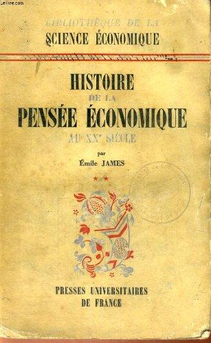 Histoire de la pensee economique au xx° siecle - tome premier de 1900 a la theorie generale de j. m. keynes 1936 - bibliotheque de la science economique