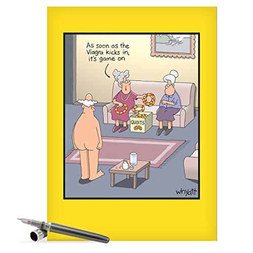 viagra-kicks-en-tim-whyatt-blank-inscripciones-humor-tarjeta-de-felicitacion