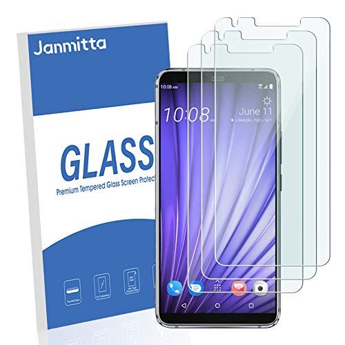 janmitta [3-Stück] Panzerglas Schutzfolie für HTC U19e, 2.5D Panzerfolie 9H Gehärtetem Glass [Anti-Kratzen][Anti-Bläschen][Fingerabdruck-frei] HD Displayschutzfolie mit HTC U19e -