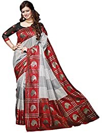 Bhavi Saree Tassar Silk Saree (Bhvp13315_Multicolor)