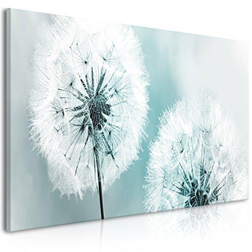 murando Bilder Pusteblume 100x45 cm - Vlies Leinwandbild - 1 Teilig - Kunstdruck - modern - Wandbilder XXL - Wanddekoration - Design - Wand Bild - Blumen Natur grau blau Pusteblumen b-B-0262-b-d