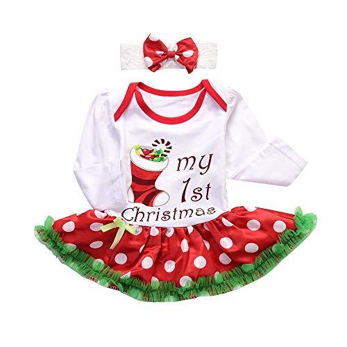 Venmo Baby Strampler Tutu Kleid Stirnband Weihnachten Outfits Kleidung Glitzernde Partykleid Kleinkind Kostüme Karneval Fasching Weihnachten Ballettkleid Party Hochzeit Tutu - Karneval Kostüme Kleinkind