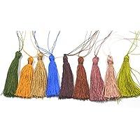 Colgantes Del Encanto De La Borla De Nylon Para Las Bolsas Llaveros Bricolaje 6cm Decoracion 12pcs Colorido
