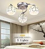 SPA Plafoniera, Plafoniera per soggiorno camera da letto, Led Soggiorno creativo-invisibile Camera da letto Lampada antincendio moderna Calda staffa per lampada a forma di fiore minimalista, Modern Ho
