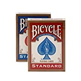 #3: Bicycle Standard Playing Cards (Set of 2 Decks: Red & Blue)
