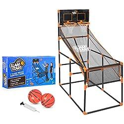 Slam Stars TY6005 Jeu de Basket-Ball pour Enfant 2 Joueurs Intérieur et extérieur avec Arceau de tir Noir
