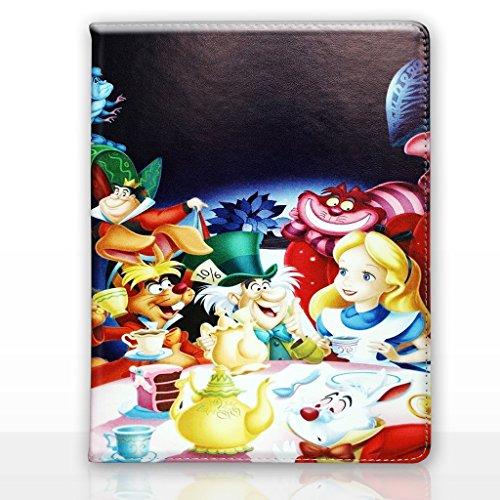 Apple iPad Air 2 (iPad 6) Folio Disney Karikatur Hülle / Schützendes PU Leder Smart Flip Hülle / iCHOOSE / Alice - Teeparty