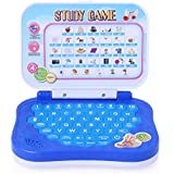 FAVELA Frozen Study Game Mini Learning Laptop For Toddlers (Blue)-Battery Operated