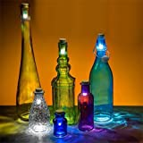 exciting Lives Plastic Wine Cork Rechargeable LED Lights, White