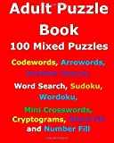Adult Puzzle Book: 100 Mixed Puzzles