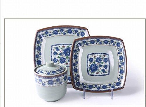 L Y Antiquitäten Antiquitäten Blau und Weiß Serie mit Deckel Melamin Geschirr Porzellan Deckel mit Deckel Japanischen Geschirr Suppe Tasse Schüssel,A