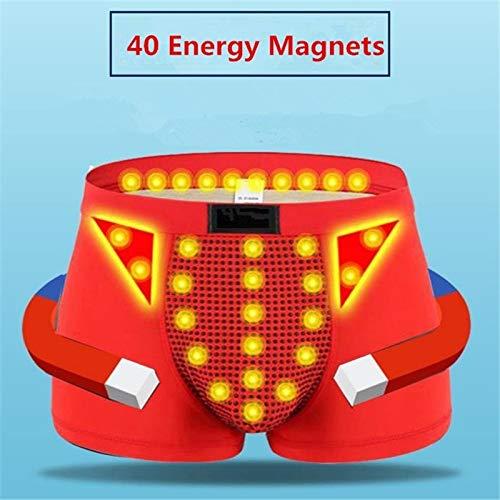 AimdonR Herren Magnetfeldtherapie Gesundheit Unterwäsche Milch Seide 36 Strong Magnetic,weiche Höschen-Boxershorts für den Frühling - Milch Seide