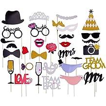 Party Foto Verkleidung Schnurrbart Lippen Brille Krawatte Hüten Photo Booth Props Set