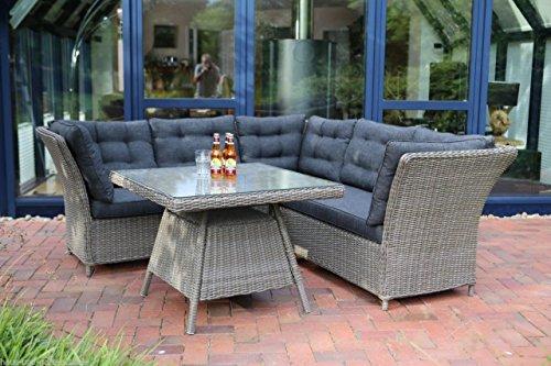 Destiny Loungegruppe Palma TRI Vintage Grau Lounge Sitzgruppe Sofaset Polyrattan Garnitur Set