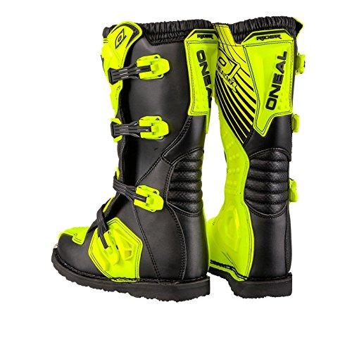 O'Neal Rider Boot MX Stiefel Hi-Viz Neon Gelb Motocross Enduro Motorrad, 0329-5, Größe 43 - 5