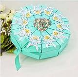 JZK® 20 x blau Kegel Schachtel Geschenkbox Gastgeschenk Kartonage klein Süßigkeiten Kartons Bonboniere Kasten, Party Favours Box für Geburtstag Party Taufe Babypartys Baby Shower (blau Geschenkbox)