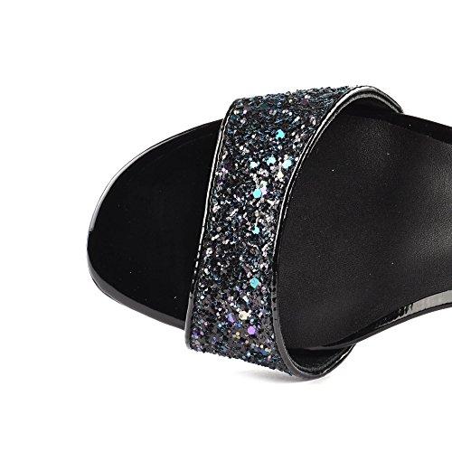 Ash Schuhe Opium Sandalen aus Wildleder Damen Midnight