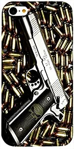 Timpax Hard Back Case Cover Printed Design : Shoot to kill.100% Compatible with Apple iPhone-5-C