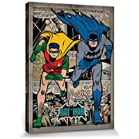 Set: Batman, Montage Cuadro, Lienzo Montado Sobre Bastidor (80x60 cm) + 1x 1 Accesorio Decorativo De Promoción 1art1®