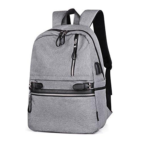 Wsnh888 zaino scuola con porta usb di ricarica borsa da viaggio impermeabile borsa per laptop borse da scuola zaino da basket per ragazze ragazzi,b
