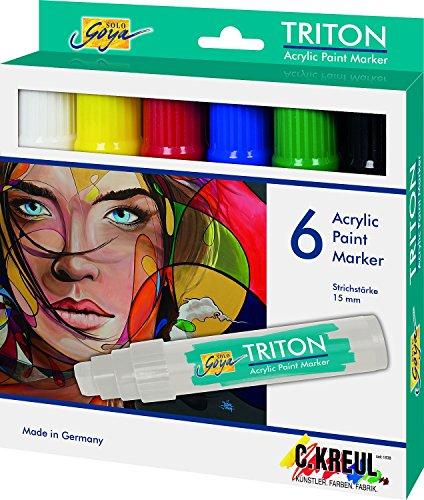 Triton 17990 - Paint Marker, Strichstärke 15 mm, 6-er (Dynamische Duo Ideen)