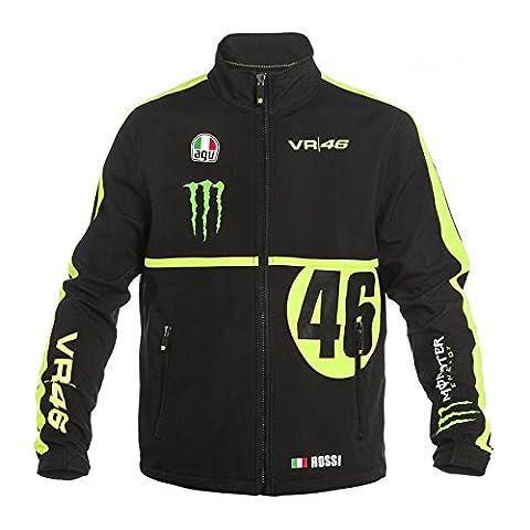 Veste SoftShell Valentino Rossi VR46 Réplica Monster Energy Monza MotoGP officielle - Homme - Noir - Taille