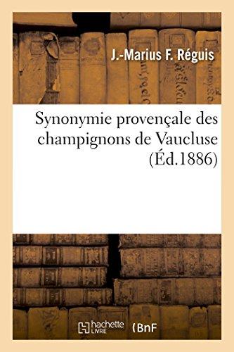 Synonymie provençale des champignons de Vaucluse