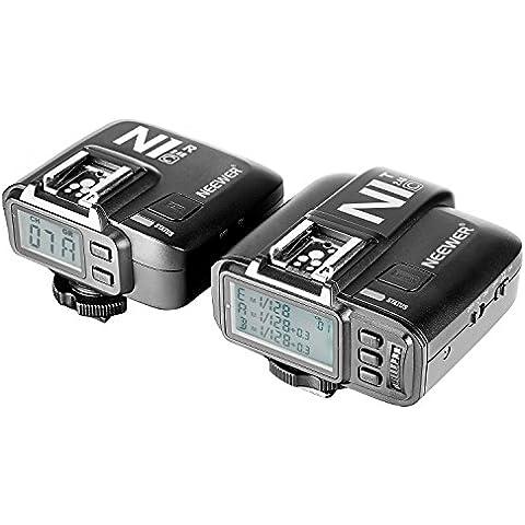 Neewer® N1T-C E-TTL 2.4G 32 Canales Disparador de Flash Inalámbrico (1*Transmisor + 1*Receptor) para Canon 5D Mark II/III,70D 60D 550D DSLR cámara, Estudio Flash y Flash Speedlite(reemplazo para Godox X1C)