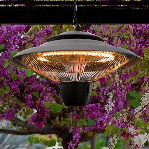 Firefly 1.500 Watt Infrarot-Heizstrahler (Halogen) Terrassenheizung, Deckenmontage (Silber) - 6