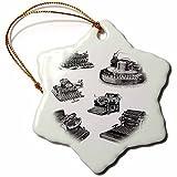 Weihnachts-Geschenke von alten Schreibmaschinen Kunst aus Edelstahl, Porzellan, Schneeflocke Dekoration zu Hause, Dekoration, zum Basteln