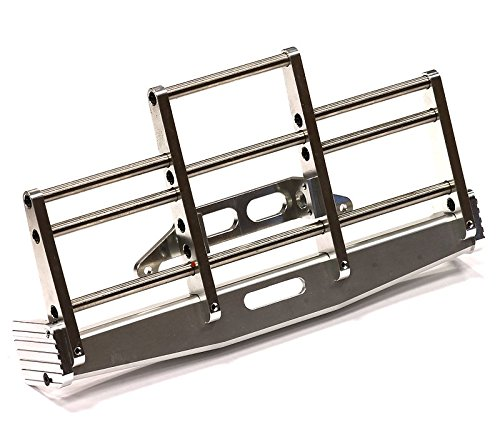 Integy-Hobby-RC-Model-C24635SILVER-Billet-Machined-Animal-Guard-for-Tamiya-114-Scale-Volvo-1850L-Tractor-Trucks
