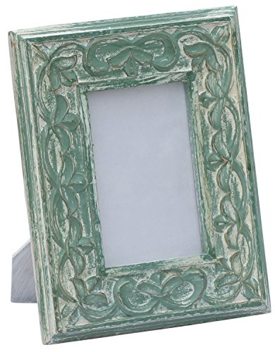 souvnear-4x6-inch-photo-picture-frame-shabby-chic-hand-carved-decorative-vintage-look-green-stylish-