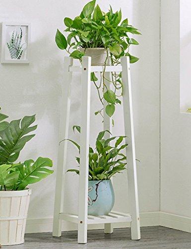 WSSF- Fleur Rack Blanc Creative Salon En Bois Fleur Présentoir Multi-couche En Bois Massif Balcon Fleur Pot Taille De Tablette En Option (taille : 30 * 30 * 90cm)