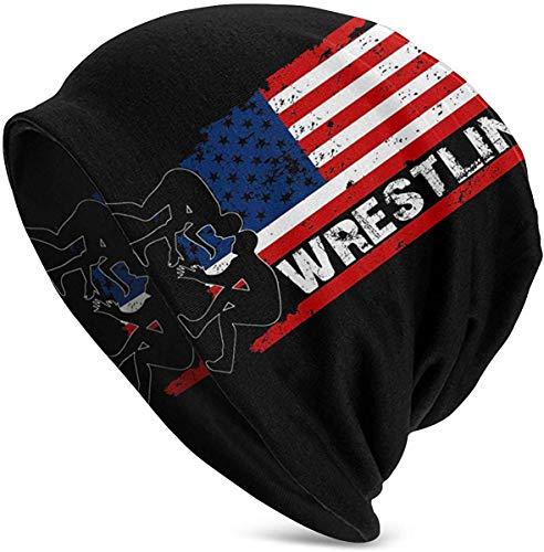 Amercian Wrestling Herren Slouchy Beanie Hut Thin Baggy für Sommer Winter Unisex