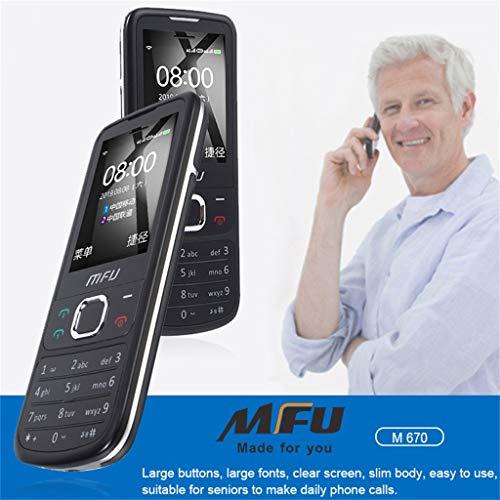 Lukame Alter großes Knopf-Telefon Mfu M670 klassisches G/M 2G Handy Gps Alt setzen Sie Telefon FM frei