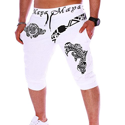 Juqilu Shorts Bermuda pour Homme - Pantacourt Jogging Sport Mots Lettres Loose Fit Casual Loisir Taille Élastique M-2XL Juqilu