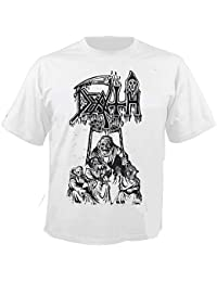 DEATH - Scream Bloody Gore - Line Art - White - T-Shirt