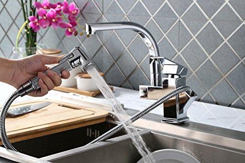Homelody ® spray-Grifo monomando para fregadero, cromado para cocina ...